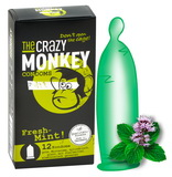 Kondomy The Crazy Monkey Fresh-Mint (12 ks)