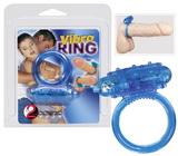 Vibrační kroužek na penis - modrý