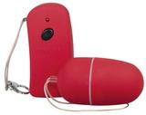 Červené vibrační vajíčko na DO