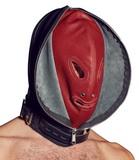 Dvojitá kožená maska na hlavu