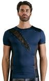 Modré tričko se síťovinou