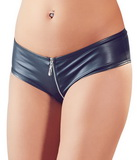 Lesklé kalhotky se zipem - černé