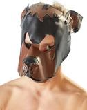 Hnědo-černá psí maska na hlavu