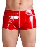 Pánské vinylové kalhoty červené