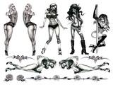 Tattoo souprava - Naughty Pin-Up