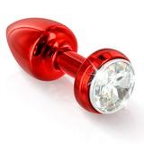 Vibrační anální kolík Diogol Annixitting Red 34 mm