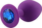 Anální kolík s křišťálem PLGZ S purple-blue