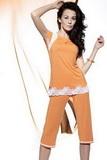 Dámské pyžamo Miran Q-174 pomerančové