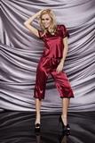 Dámské pyžamo DKaren Irina vínové