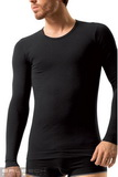 Bezešvé tričko Brubeck LS01120 černé