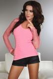Dámské tričko LivCo Corsetti Hortense růžové