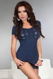 Dámské tričko LivCo Corsetti Gabrielle modré