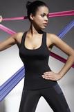 Fitness top BasBleu Teamtop 70 černý