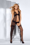 Erotická košilka Axami V-5259 IMPRESS ME černá