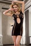 Erotické šaty Alexis SLH-10391 černé
