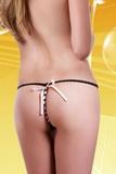 Erotické tanga Alexis SL-50225 černo-růžové