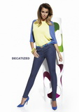 Dámské kalhoty BasBleu Natalie jeansové