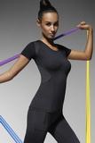 Fitness tričko BasBleu Electra černé