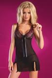 Erotická košilka LivCo Corsetti Camille černá