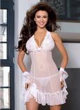 Erotická košilka Axami V-6039 CHARLOTTE bílá