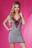 Dámská košilka LivCo Corsetti Sunshine šedo-růžová