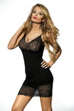 Erotická košilka DKaren Irmina černá