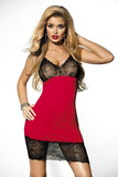 Erotická košilka DKaren Irmina červeno-černá