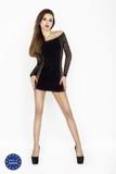 Erotické šaty Passion BS025 černé