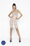 Erotické šaty Passion BS033 bílé
