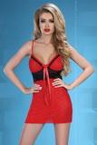 Dámská košilka LivCo Corsetti Hot heart černo-červená