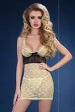Erotická košilka LivCo Corsetti Abiona černo-žlutá