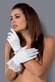 Erotické rukavičky Obsessive Etheria bílé