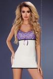 Dámská košilka LivCo Corsetti Amaris bílo-fialová
