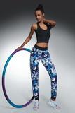 Fitness kalhoty BasBleu Chalice modro-fialové