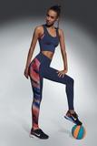 Fitness legíny BasBleu Rainbow modré