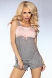 Dámské pyžamo LivCo Corsetti Model 102 šedo-růžové