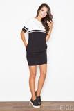 Dámské šaty Figl M400 černo-krémové