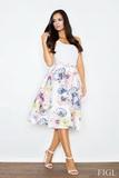 Dámská sukně Figl M383 květinková