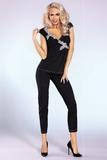 Dámské pyžamo LivCo Corsetti Siona černé
