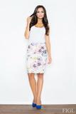 Dámská sukně Figl M387 květinková