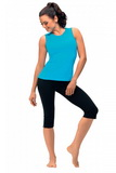 Fitness kalhoty gWinner Capri černé