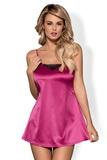 Dámská košilka Obsessive Satinia růžová