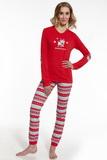 Dámské pyžamo Cornette 67154 Reindeer červené