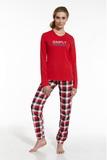 Dámské pyžamo Cornette 67342 Simply Together červené
