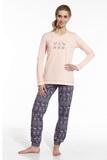 Dámské pyžamo Cornette 67343 Nordic meruňkové