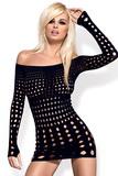 Erotické šaty Obsessive Rocker dress černé