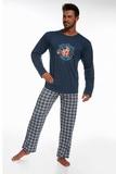 Pánské pyžamo Cornette 12463 Hockey džínové