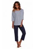 Dámské pyžamo Cornette 147139 Allie modré
