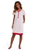 Noční košile Cornette 637149 Red Shoes krémová