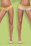Dámské kalhotky Obsessive Lace - 2-balení žluté